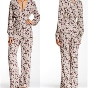 NWT free people floral jumpsuit